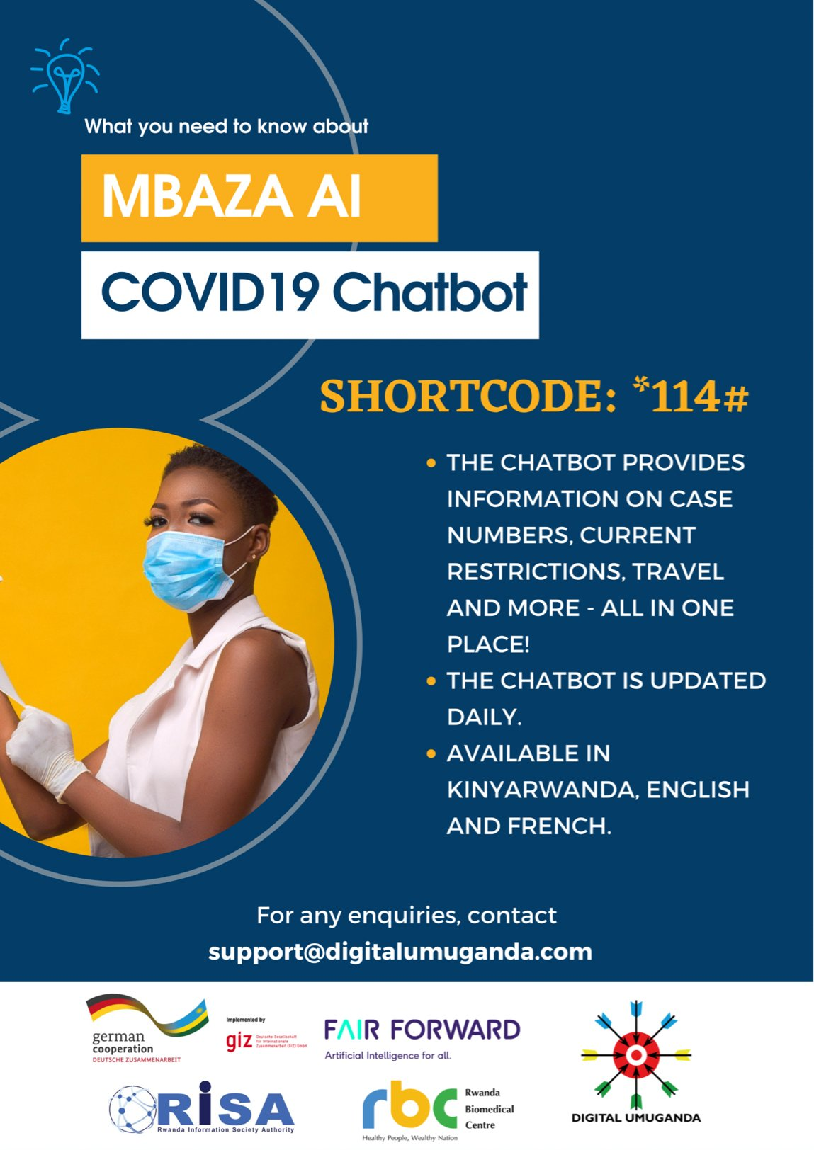 Mbaza Chatbot Infographic